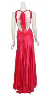 Vibrant Dina Bar El Silk Halter Gown Dress Large New
