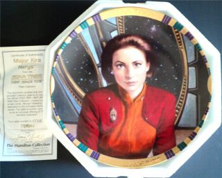 Star Trek Deep Space Nine Kira Hamilton Plate w COA