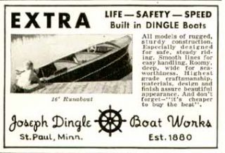 rare 1940 ad for joseph dingle boat works st paul