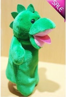 Cute Dinosaur Hand Sock Puppet Plush Toy Registered Mail