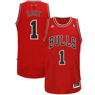 Chicago Bulls Derrick Rose Red Adidas Swingman Jersey Sz Youth Small