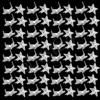 100X Remaches Plata 7mm Estrella Tachuelas Bolsa/Calzado/Guante