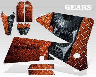 2006 2012 KTM SX 85 105 Graphics Kit Decal Sticker Gears Flag Decal MX