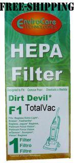 Dirt Devil Vacuum Cleaner F1 HEPA Filter
