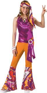 Kids Teen Tween Girls 60s 70s Disco Mod Dance Costume M