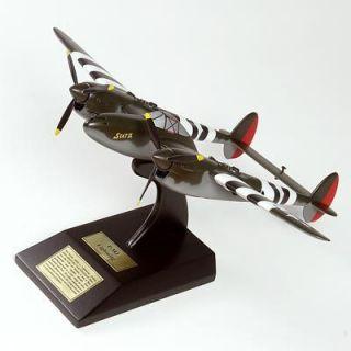38 Lighning WW2 Miliary Deskop Wood Model Airplane