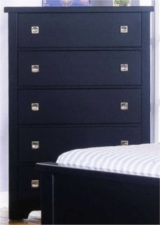 Vaughan Bassett Lifestyle Col Black Queen Bedroom Set