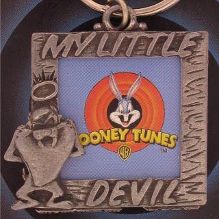 Taz Tasmanian Devil Keychain Warner Brothers Charm WB N