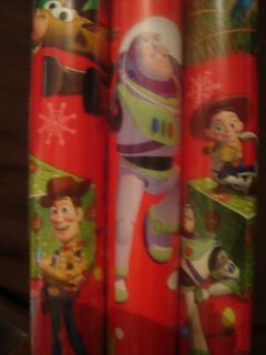 Disney Toy Story Christmas Wrapping Paper Gift Wrap 3 rolls Buzz Woody