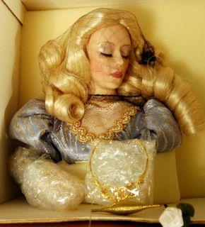 DISNEY 20 SLEEPING BEAUTY Franklin Heirloom Porcelain Doll MIB
