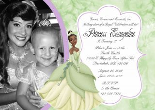 Disney Princess and the Frog Tiana PRINTABLE Photo Birthday Party