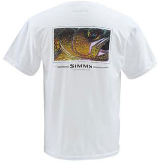Simms Fly Fishing DeYoung Walleye Short Sleeve Tee Shirt White Large
