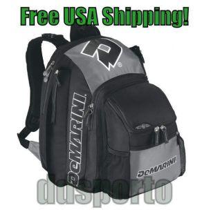 Voodoo WTA9401 Black Silver Bat Pack Baseball Player Backpack Bat Bag