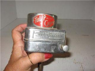 1930s Antique Lily Tulip Dixie Paper Cup Dispenser Machine Glass Tube