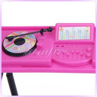 Music DJ Console Mixer Controller Operator Set for Barbie Doll