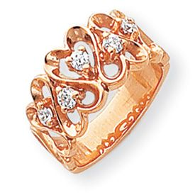WG or Rose 0 3 Carat Diamond Heart Ring Available in Sizes 4 9