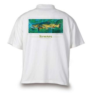 Simms Fly Fishing DeYoung Brookie T Shirt White Medium