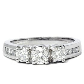 Vs 1 00ct Real Diamond Engagement Ring White Gold Anniversary Gorgeous