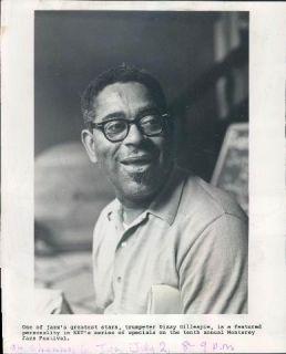 1968 Photo Jazz Trumpet Player Dizzy Gillespie