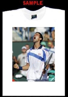 Novak Djokovic Custom T Shirt Tee Tennis Player 1842