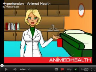 Cartoon Animated Video Hipertension Video En Dibujos Animados