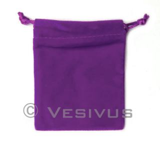 You are purchasing a Purple Velvet Dice Bag. This bag is perfect for