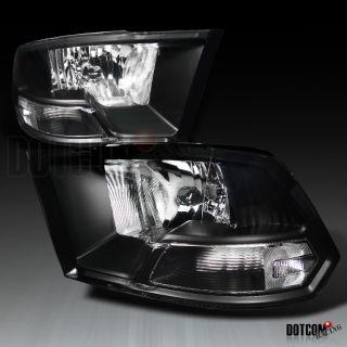 2009 2012 Dodge RAM 1500 Diamond Headlights Black 2500 3500