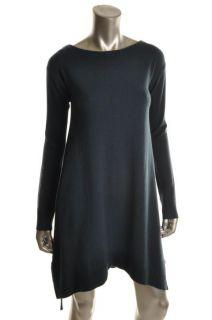 Diane Von Furstenberg New Green Wool Ribbed Trim Long Sleeves Casual