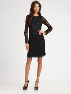 New $345 Diane Von Furstenberg New Zarita Black Lace Dress Size 4 Sold