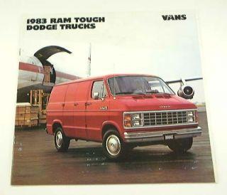 1983 83 Dodge RAM Van Brochure B150 B250 Maxivan