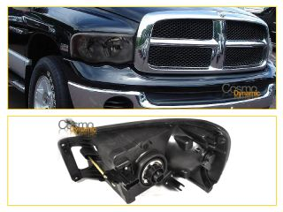 02 05 Dodge RAM 1500 2500 3500 Crystal Headlights Smoke