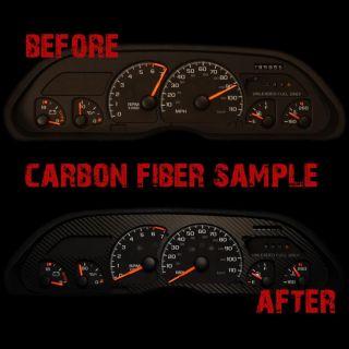 dodge ram 02 07 carbon fiber dashboard instrument panel cluster gauge