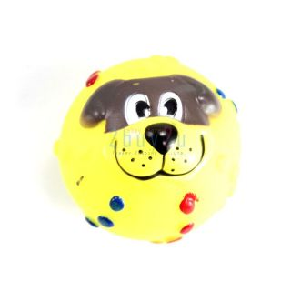 Lovely Pet Dog Play Chew Funny Squeaky Squeak Toy Small Ball