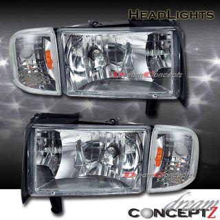 1994 2001 Dodge RAM 1500 2500 3500 Truck Headlights Corner Lights