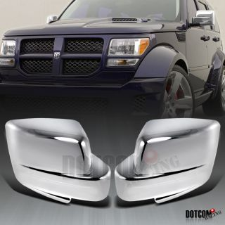 2007 2008 2011 Dodge Nitro Chrome Mirror Covers Set New