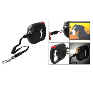 Retractable Dog Puppy Pet Cat Kitten Safe Cord Leash with LED Light