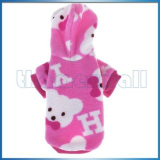 Pet Dog Pajamas Hoodie Coat Clothes Appreal New L Pink