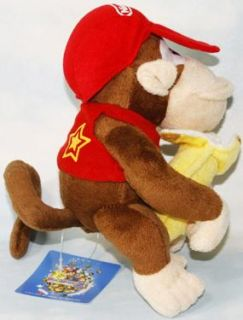 Super Mario Bros Diddy Kong Banana 6 Soft Plush Doll Toy