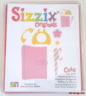 Sizzix Originals Die Cuts Telephone & Diary 38 1200 Original Large Red