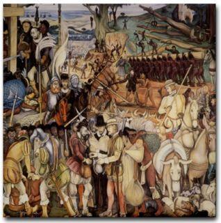 Diego Rivera Mexico Mural Art Tile Ceramic La Conquista