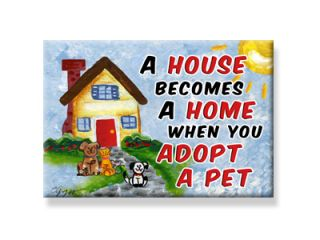 Adopt A Pet Rescue Refrigerator Magnet Dog Cat Adoption