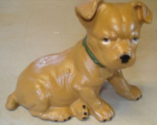 Two Dog Banks Cast Iron Puppy Dog Bank