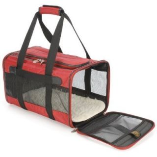 Sherpa L Deluxe Pet Cat Dog Carrier Crate Bag Tote Red