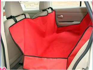 Red Cradle Dog Car Seat Cover Pet Mat Blanket Hammock