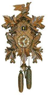 Dold 8 94 7 Leaves 3 Birds 8 Day German Cuckoo Clock