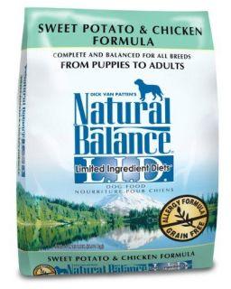 Natural Balance Sweet Potato and Chicken Formula Dog Food, 5 Pound Bag