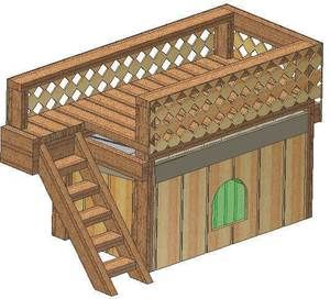 INSULATED DOG HOUSE PLANS, 15 TOTAL, DOUBLE DECKER DOG HOUSE PLANS, 2