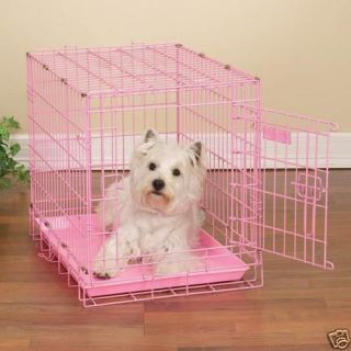 """36"""" Large Pink Dog Crate Kennel Collapsable"""