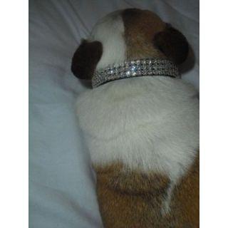Crystal Dog Collar Fits 9 12 Necks Rhinestone Dog Collar
