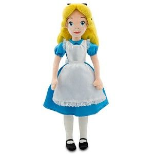 Disney Alice In Wonderland 20 Plush Doll Toy Satin Dress New